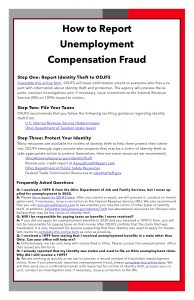 How to Report Unemployment Compensation Fraud