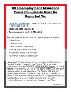 How to Report Unemployment Insurance Fraud 1.13.2021